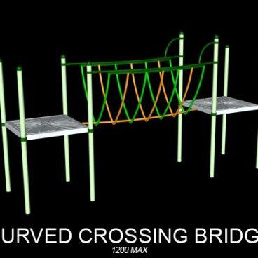 Curved Crossing Bridge
