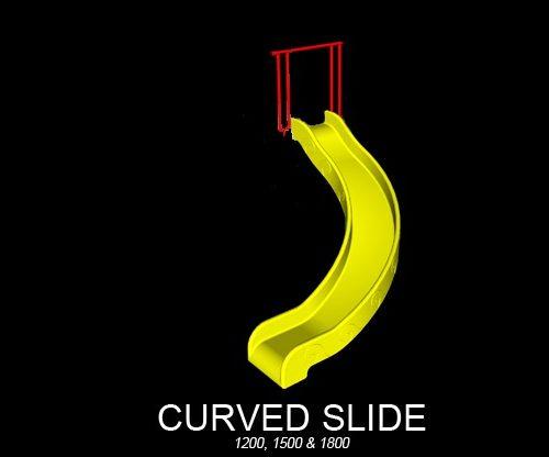 Curved Playground Slide